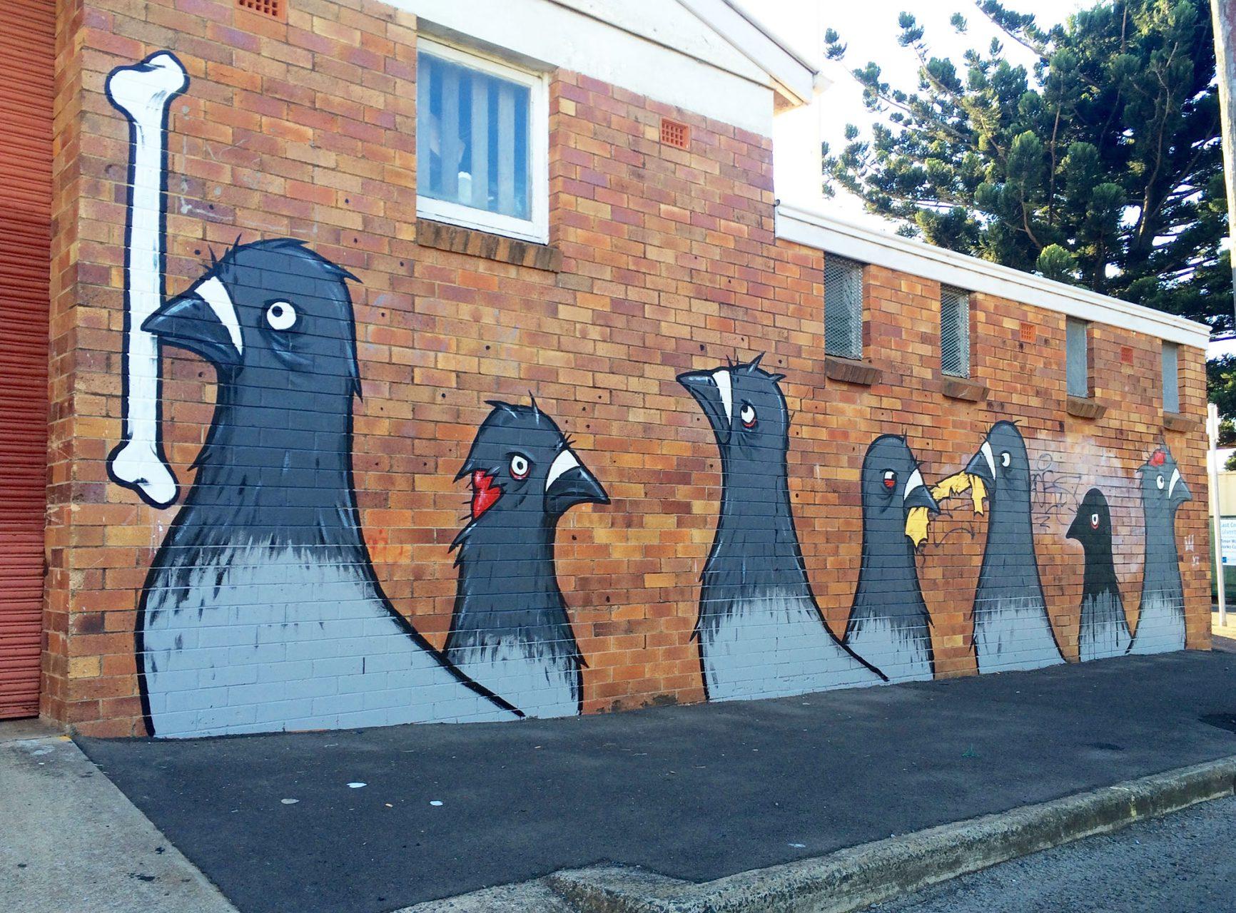 Mural in australia as part of first coat mural festival for Australian mural
